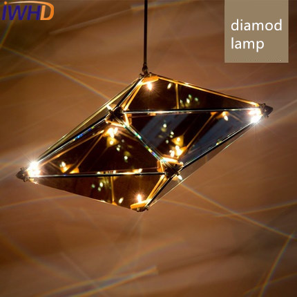 IWHD Modern LED Pendant Lights Art Design Lamp diamond Glass Pendant Light Fixtures Dining Room Home Lighting Lamparas lamps fumat stained glass pendant lamps european style glass lamp for living room dining room baroque glass art pendant lights led