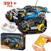 391pcs Creator APP Remote Control Car Bricks LEGOinglys Technic RC Tracked Racer Model Building Blocks Toys For Children Gift