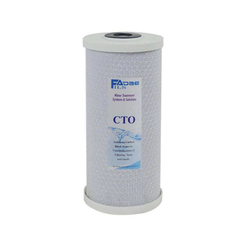 Whole House 5 Micron Big Blue Coconut Shell Carbon Block Water Filter Cartridge 10 L x 4.5 OD whole house water filter replacement cartridge granular coconut carbon filter 4 5 x 10 inch