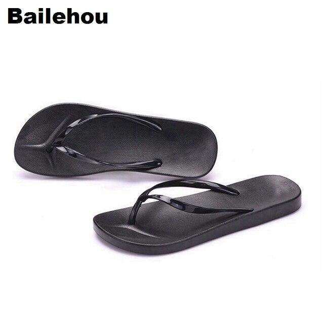 Bailehou Phụ Nữ Lật Flip Flops Dép Bãi Biển Dép Đơn Giản Dép Trượt Trên Phụ Nữ Slides Phụ Nữ Giày Phẳng Nền Tảng Dép Nữ
