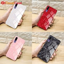 For Huawei P20 lite Case Luxury P20Lite Tempered Glass Back Cover P 20 Phone Cases Funda Coque for Huawei P20 pro Case Silicone(China)