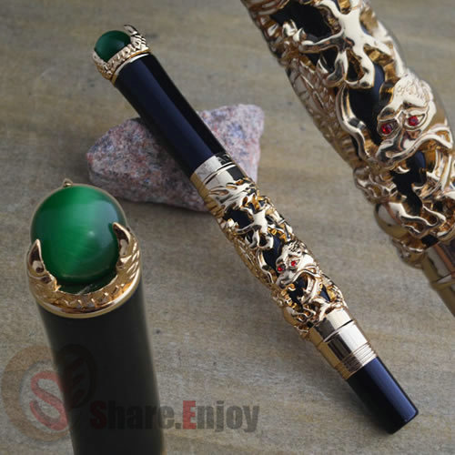 JINHAO GOLDEN DRAGON KING PLAY PEARL ROLLER BALL PEN OVERLORD комплект для татуировки oem 1 gig set golden dragon