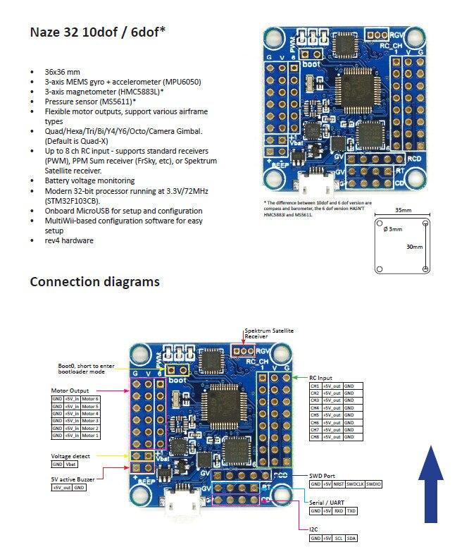flight controller acro afro naze32 6dof for multirotor quadcopter rh aliexpress com Acro Naze32 Wiring-Diagram Naze32 Wiring Diagram for DSM2