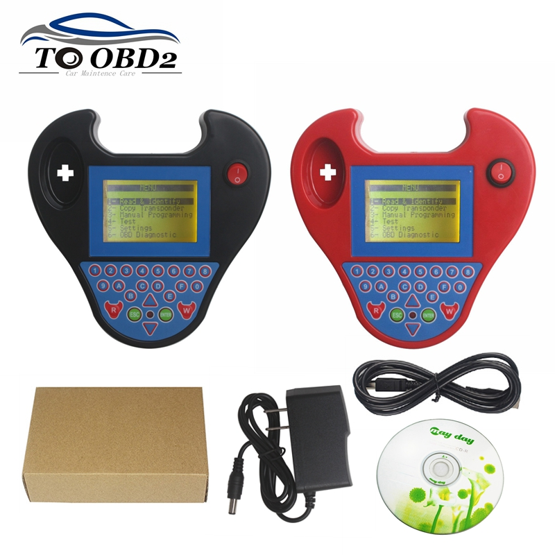 Smart Mini Zed Bull Auto Key Programmer Mini Zedbull V508 Key Transponder Chip Cloner Zed-bull No Tokens Needed Black And Red