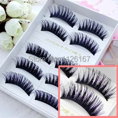 new hot 5 pair natural high quality eyelash long thin fake false eyelashes charming false Eyelash make up