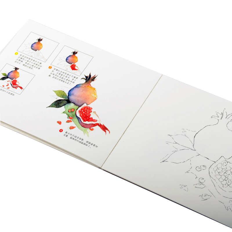 Dainayw 300gms 12 листов профессиональная живопись учебник Акварельная бумага окрашенная Водорастворимая Книга линия черновик для художника студента