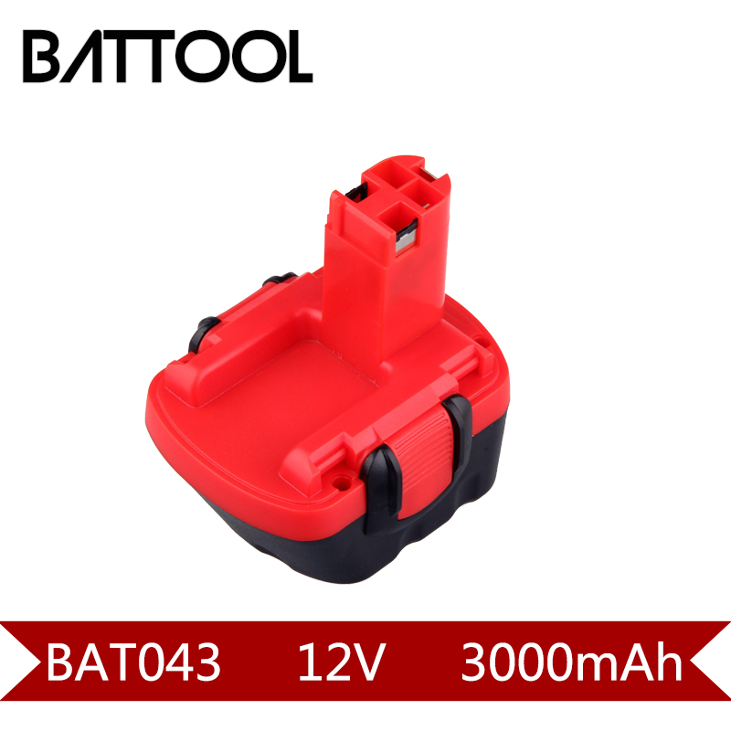 1X 3000mAh 12V Ni-CD BAT043 Rechargeable Battery: BOSCH GSR 12 VE-2,GSB 12 VE-2,PSB 12 VE-2, BAT043 BAT045 BTA120 2607335430 ve bc vebc msop