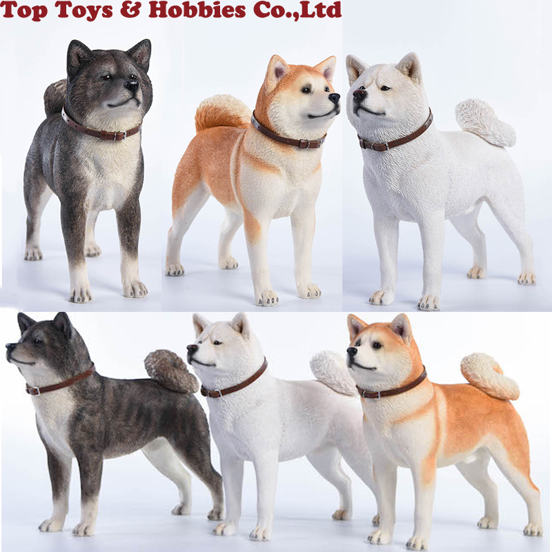 Collections 1/6 Scale Working Dog Model Japanese Akita Jxk007A/B/C With Collar Anime Statue for 12 inches Action Figure image