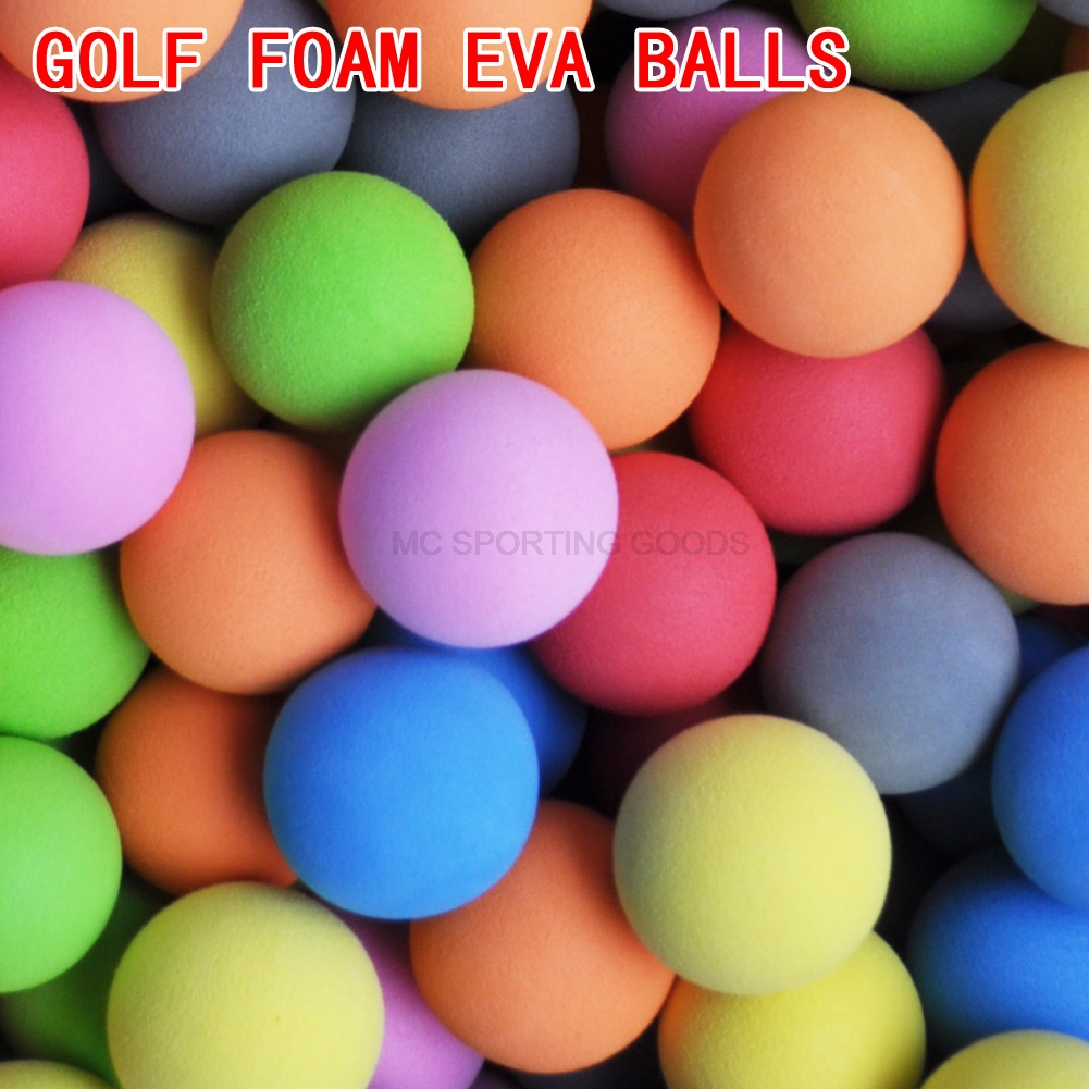 20pcs/bag Golf Balls EVA Foam Soft Sponge Balls for Golf/Tennis Training Solid Color for Outdoor Golf Practice Balls title=