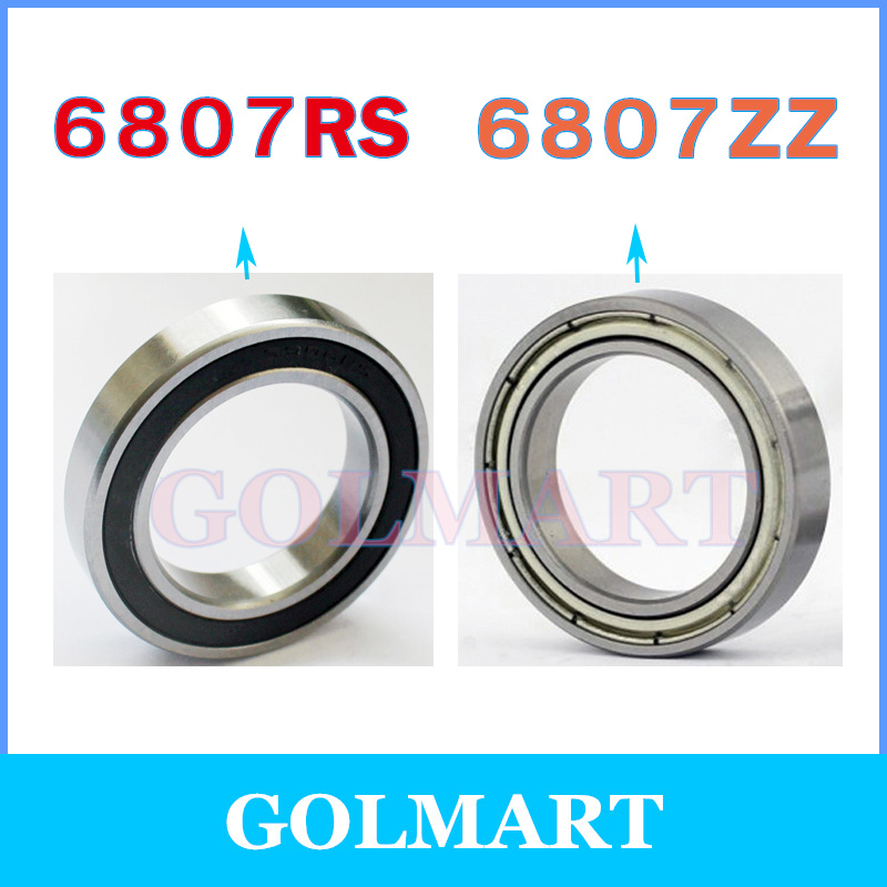 10PCS 6807-2RS 6807RS Deep Groove Rubber Shielded Ball Bearing 35mm*47mm*7mm