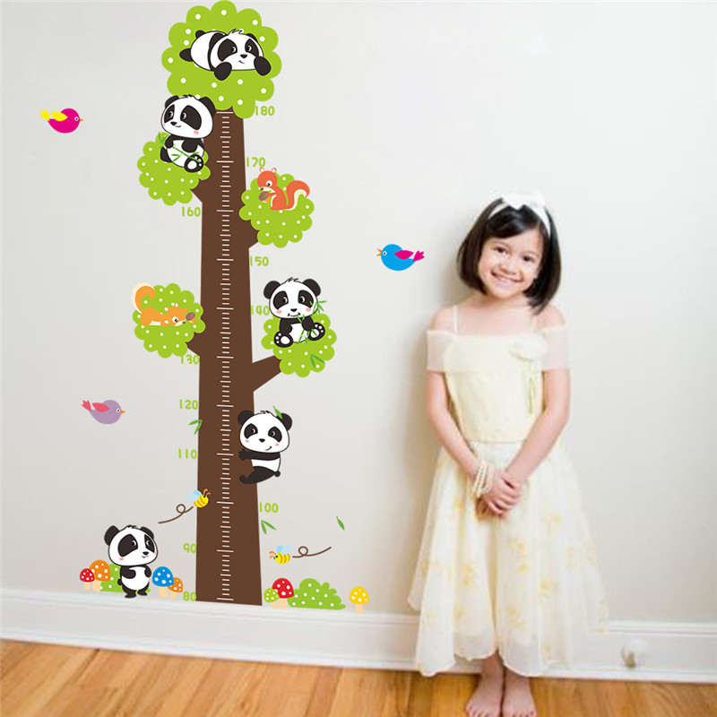 3d Large Size Round Dots Tree Wall Stickers Home Decor: New Cute Cartoon Tree Wall Stickers Kids Height