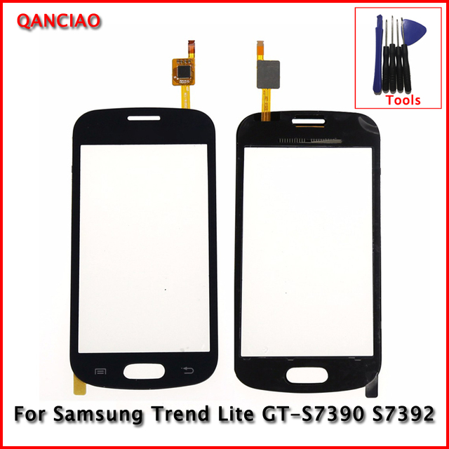 "Original 4.0"" For Samsung Trend Lite GT-S7390 S7392 Touch Screen digitizer Glass Panel Replacement Black/White With Free Tools"