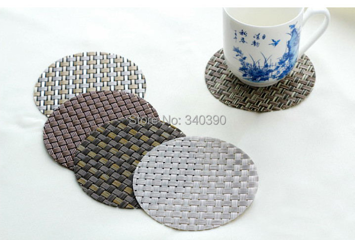 Online Shop Round PVC Cup Coasters Woven Vinyl Table Coaster Cup Coaster  Ideal For Bar,restaurant Diameter In 11.5cm Free Shipping | Aliexpress  Mobile