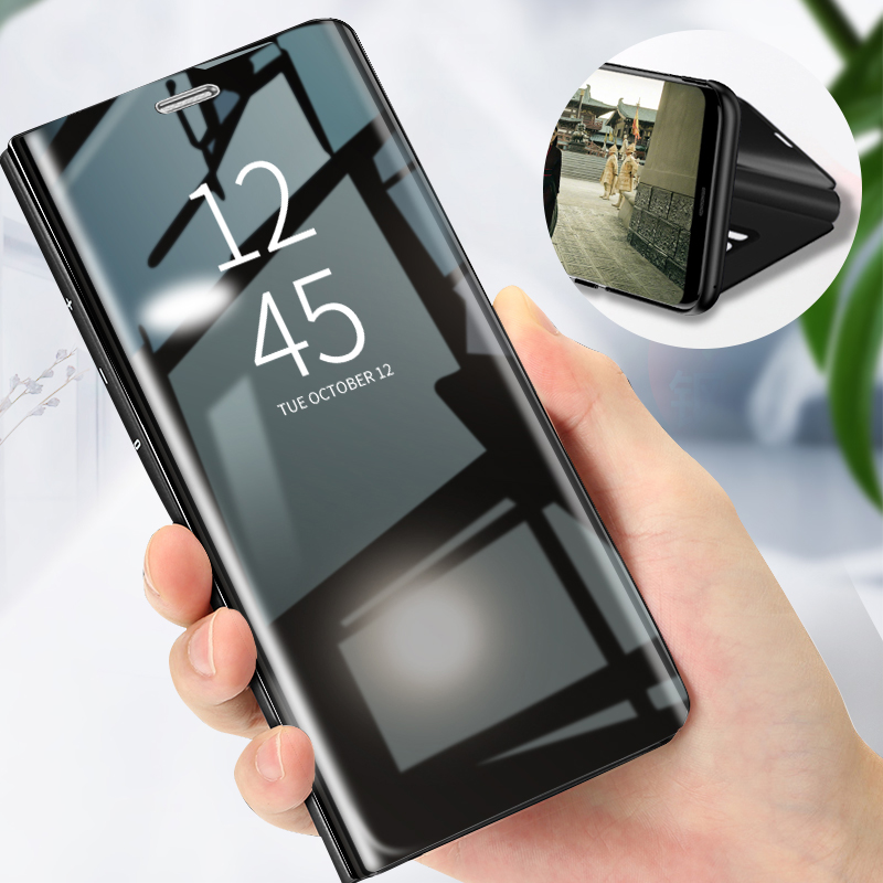 Smart <font><b>Mirror</b></font> <font><b>Flip</b></font> Phone <font><b>Case</b></font> For <font><b>Samsung</b></font> A3 A5 A6 A7 A8 J3 J5 J7 J6 Cover <font><b>Case</b></font> For <font><b>Samsung</b></font> S10E <font><b>S10</b></font> Lite S9 S8 Plus S7 Edge <font><b>Case</b></font> image