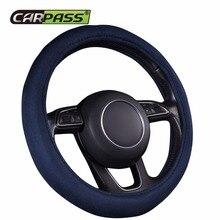 Автомобиль-Пасс удобный чехол рулевого колеса автомобиля фланелет материал черный серый синий цвет чехол рулевого колеса автомобиля для Nissan