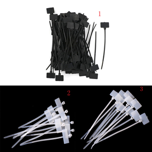100Pcs/lot Plastic Nylon Mark Tags Label Sticker Cable Zip Ties RJ45 RJ12 Releasable Nylon Cable ties Wire Organiser