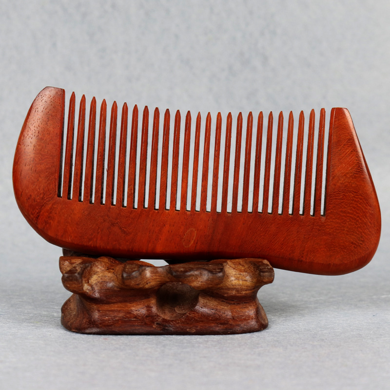 C47 Hairdressing boutique wooden comb Rosewood solid wood comb Anti-static hair comb цена 2017