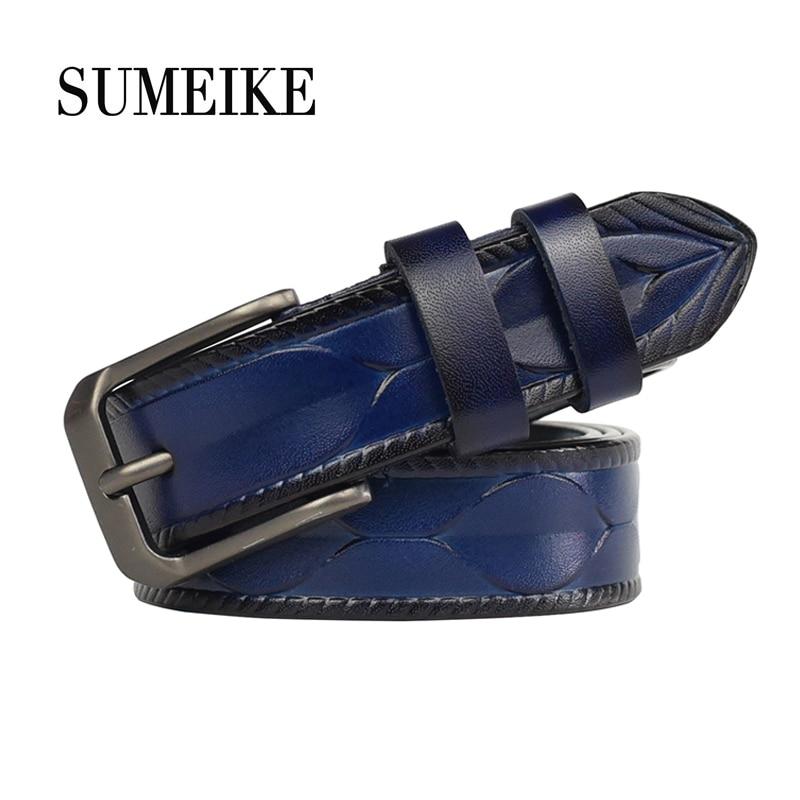Genuine Leather   Belt   For Women High Quality Ladies Strap Female   Belt   Women 1.4'' Width/95-115cm