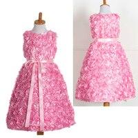 Elegante Kleinkind Kleine Mädchen Kleidung Geburtstag Abendgesellschaft Kurz Kleider Grün Blau Gold Lila Rosa 3d Blumen Kleid