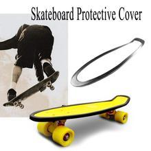 Black Plastic Fish Plate All-inclusive Edge Bamboo Pole Banana Skateboard Silicone Retaining Edge Anti-friction