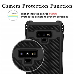 Image 5 - AMIRA Shockproof Heavy Duty Hybrid Rugged Armor Phone Case for Samsung Galaxy S10 S8 S9 Plus Note 8 9 Carbon fiber Cover