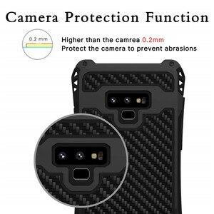 Image 5 - עמירה עמיד הלם היברידי עומס כבד מוקשח שריון מקרה טלפון עבור Samsung Galaxy S10 S8 S9 בתוספת הערה 8 9 פחמן סיבי כיסוי