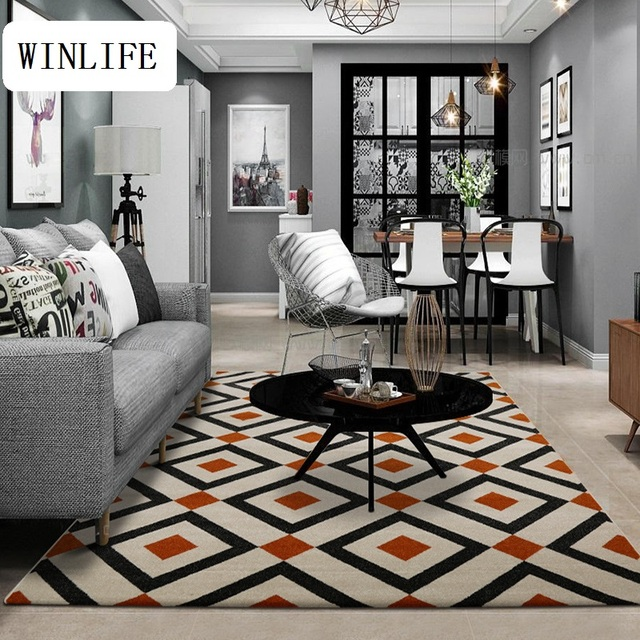 Big Area Rugs For Living Room Decorate Photos Winlife Plaid Design Carpet Decorative And Carpets Simple Style Home Decoration Soft
