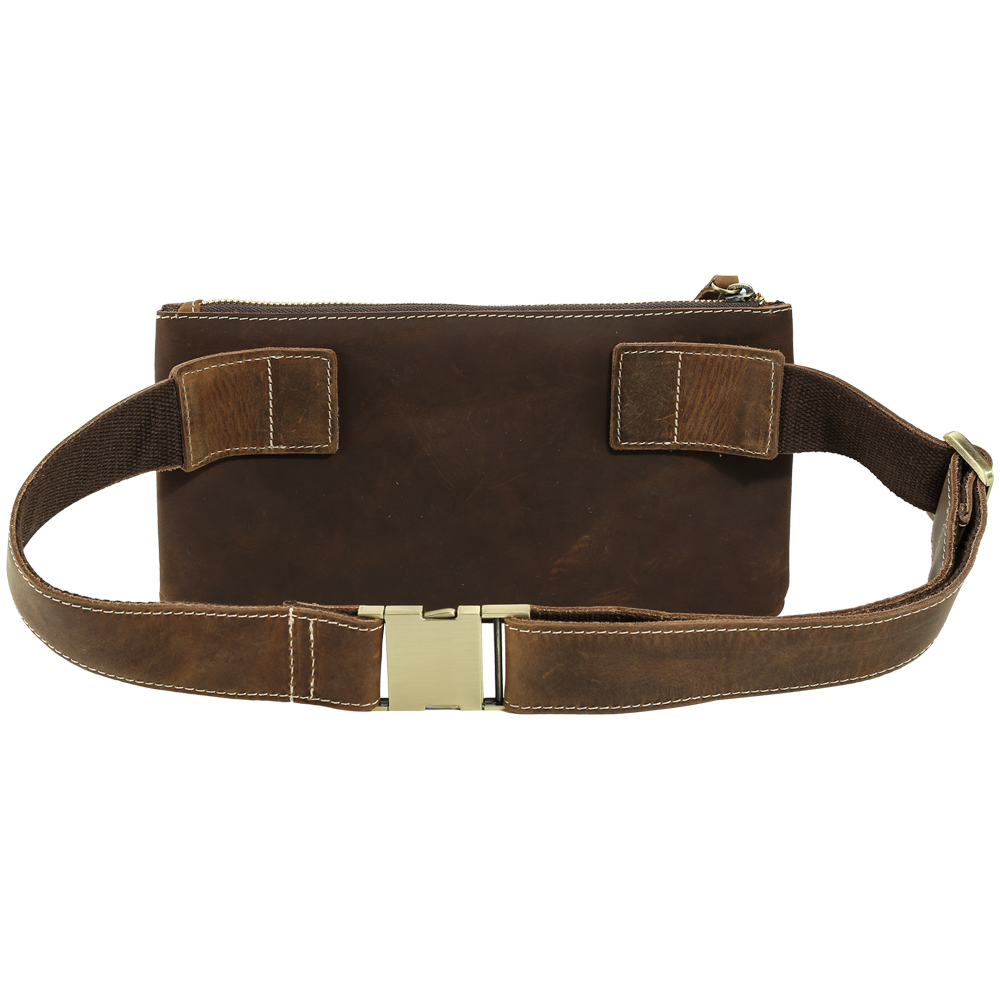 0dc40fef58fc Designer 100% Genuine Leather Waist Pack Mens Fanny Pack Simple Vintage  Pillow Belt Bag Cool Hip Bum Bag Day Pack Brown Tiding-in Waist Packs from  Luggage ...