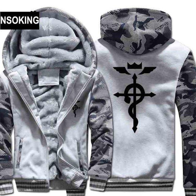 Fullmetal Alchemist Warm Hoodie Thick Zipper Jacket
