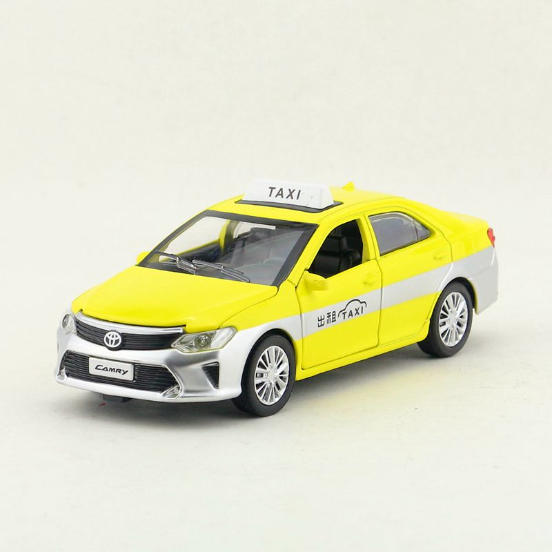 1:32 Scale/Diecast Model Toy Vehicle/TOYOTA Taxi Car/Sound & Light/Pull Back/Educational Collection/Gift For Children