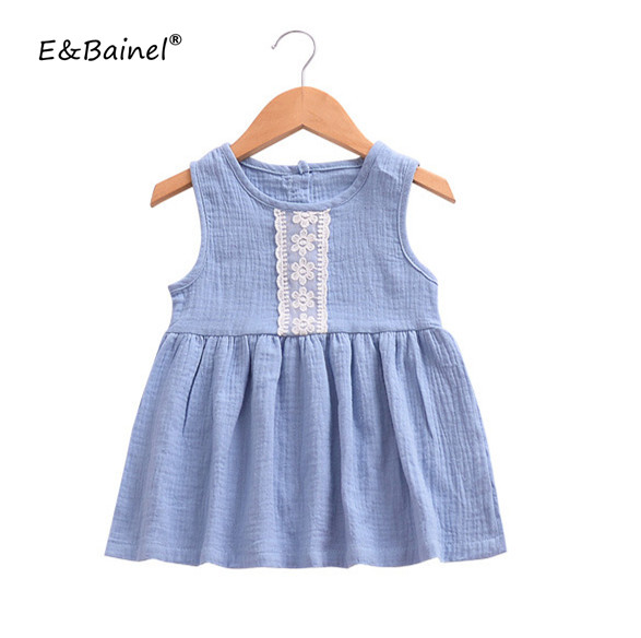 Baby Girl Dress Summer 2018 Children Clothing Blue Lace Fashion Princess Dress Girls Dress Cotton Clothes Girl Vestido