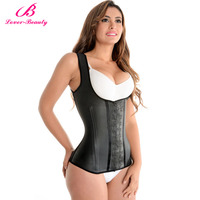 Waist Training Corsets And Bustiers Latex Waist Cincher Trainer Black Corset Underbust Hot Body Shapers Plus