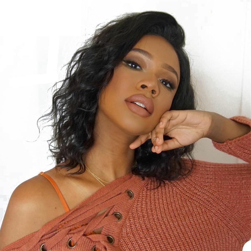 Body Wave Lace Front Human Hair Wigs Short Bob Wig For Black Women Brazilian Remy Hair