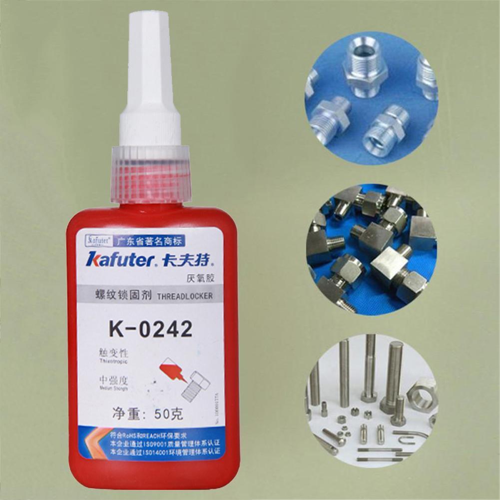 Rust Remover K-0242 50g Blue Liquid Glue Anaerobic Adhesive Sealant Screw Quick Curing Glue Lock Thread Remover Ferrugem