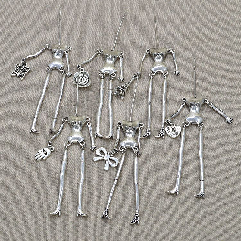 Doll parts on arrival!! Fashion doll necklace Charms accessories  doll pendant body with arms and feet  Dress up by yourself-in Charms from Jewelry & Accessories    1