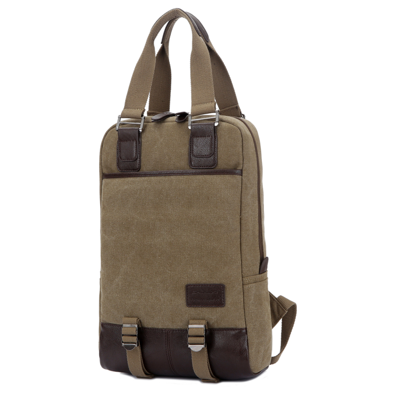 High Quality Canvas Shoulder Male Men Computer Backpack Computer and Office Leisure Student Casual Laptop 14 Inch Travel Bagpack quality innovation bicycle infantry pack 14 6 inch waterproof and scratch resistant outdoor leisure men and women bike backpack