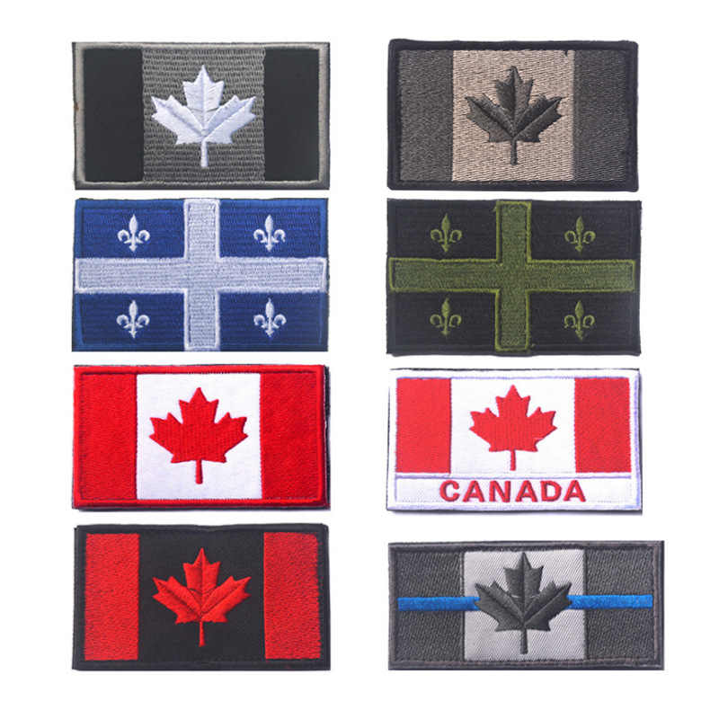 SHIPS FROM CANADA Canadian Flag Military Moral Armband Patch Hook /& Loop