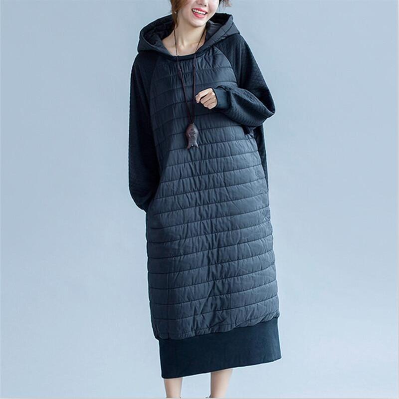 2019 Winter Cotton Padded Jackets X-Long   Parka   Warm Long Jackets Hooded Overcoat Female   Parkas   jackets Plus size Vestido 6XL