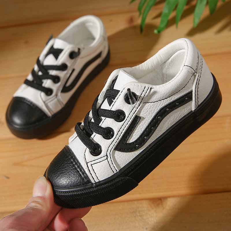 Children Fashion shoes boy kindergarten school PU Leather loafer tenis toddler girl sports shoes kids sneakers kinder schoenen