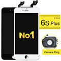3pcs For Iphone 6s Plus Lcd Screen Display Touch Digitizer Complete Assembly Replacement(camera ring+ear mesh+sensor ring)