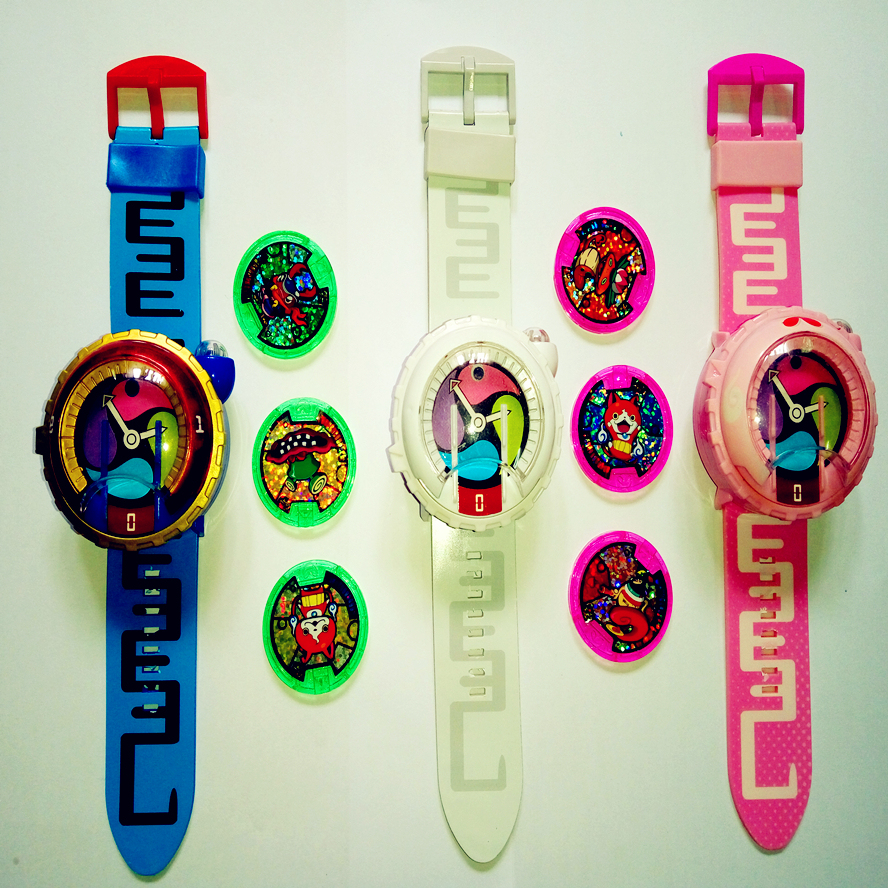 DX Japan Anime Yokai Watch Lighting and sound  (Watch the video details, it is only simple toy and Not like the original.) hasbro yokai watch b5943 йо кай вотч часы