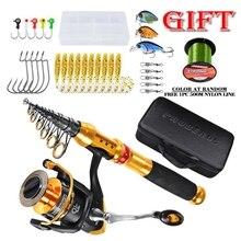 1.8/2.1/2.4/2.7M Distance Throwing Fishing Rod Kit  Carbon Fiber Rod+Fishing Reel+Nylon Line+Fishing Bag+Lure Kit цена