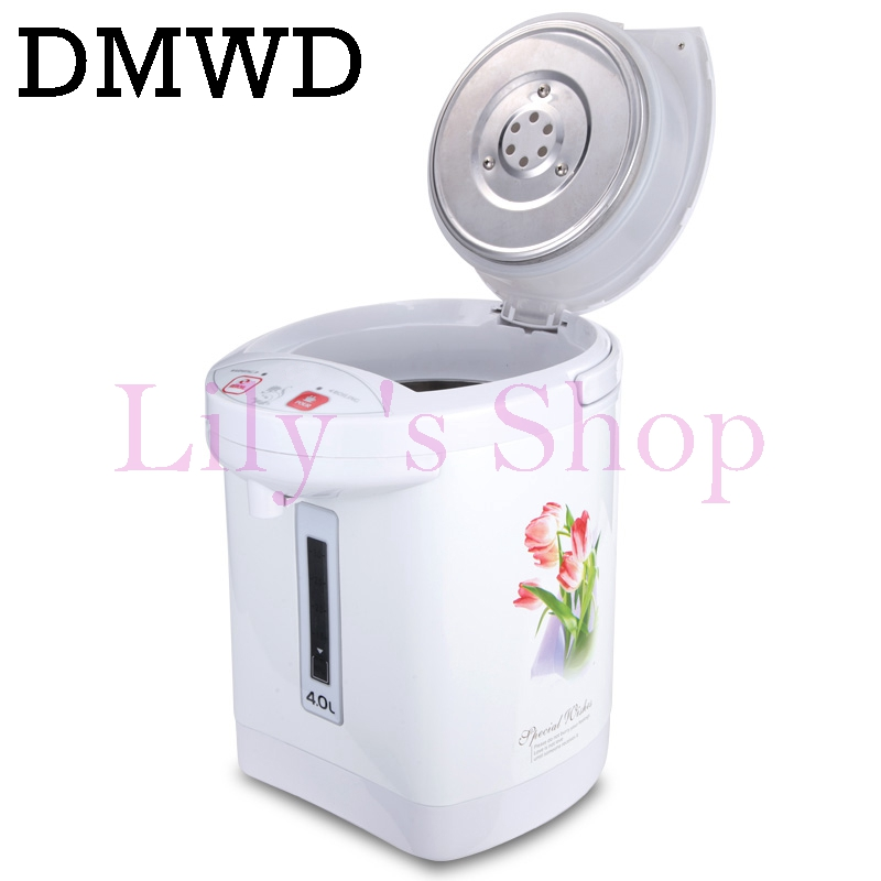 DWMD Electric kettle air pressure type electric heating water boiler 110V 4L Pneumatic bottle thermal insulation water dispenser high quality electric kettle double wall insulation quick heating digital electric thermos water boiler home appliances for tea