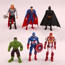 Цельный супергерой Мстители эндшпиль Железный человек Халк Капитан Америка Супермен Бэтмен фигурки подарок коллекция детских игрушек
