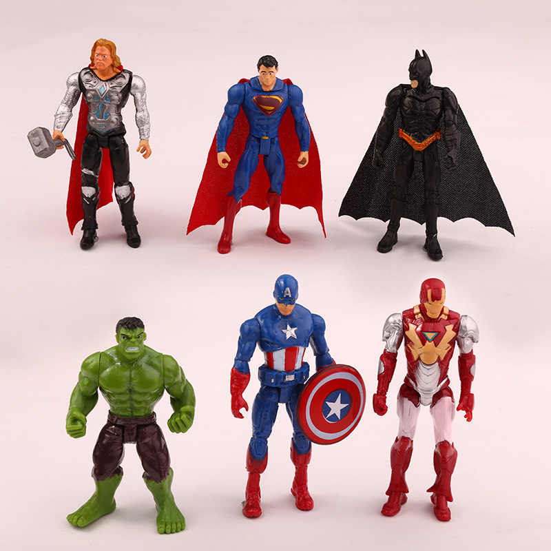 One Piece Superhero Avengers Endgame Iron Man Hulk Captain America Superman Batman Action Figure Koleksi Hadiah Anak Mainan