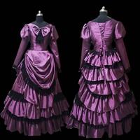 2019 New purple Male Halloween Cosplay dress Colonial Georgian Renaissance Gothic Historical dress D 308