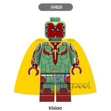 1PCS model building blocks action superheroes Vision Infinity War Collection kit DC diy toys for children gift(China)