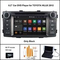 Quad Core Android 7.1 ARABA DVD GPS TOYOTA HILUX 2012 araba stereo için araba gps Kapasitif dokunmatik ekran 16 GB Rom