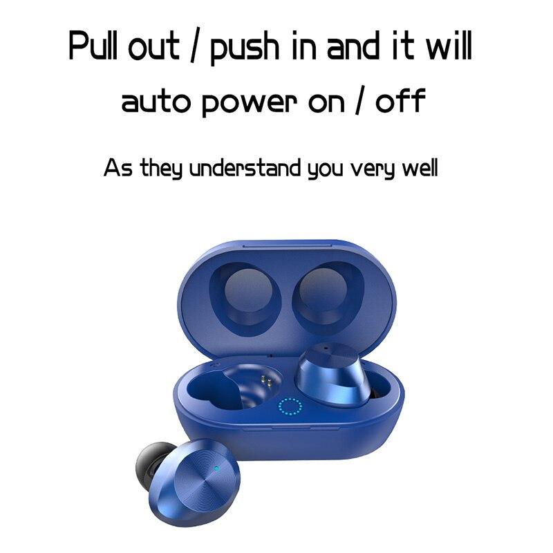Haute qualité TWS écouteurs sans fil Bluetooth V5.0 écouteurs stéréo son Sport écouteurs