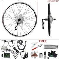 DIY Ebike 36V 350W 26'' Cassette Rear Wheel Hub Motor Kit Electric Bicycle Conversion Kit motocarro electrico electromotor